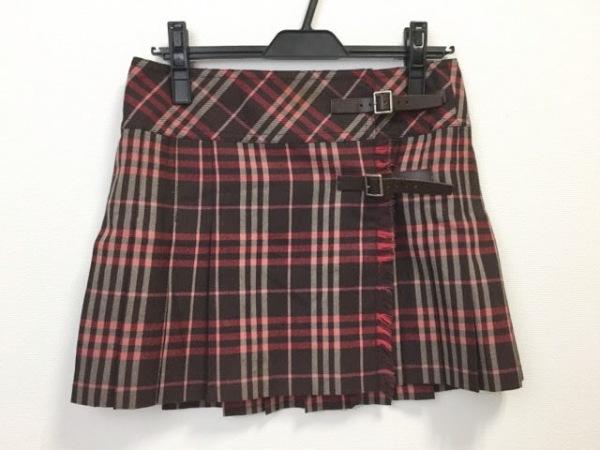 バーバリーブルーレーベル 巻きスカート サイズ38 M レディース美品  チェック柄
