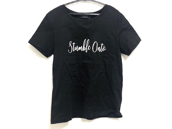 JUSGLITTY(ジャスグリッティー) 半袖Tシャツ サイズ2 M レディース美品  黒×白