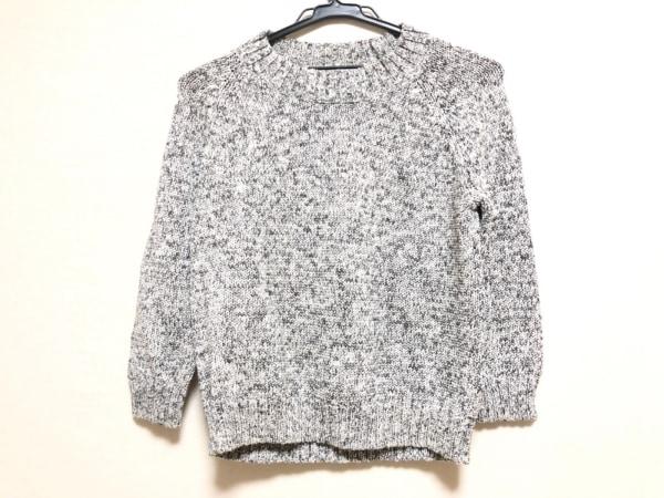 theory(セオリー) 七分袖セーター サイズS レディース 白×グレー