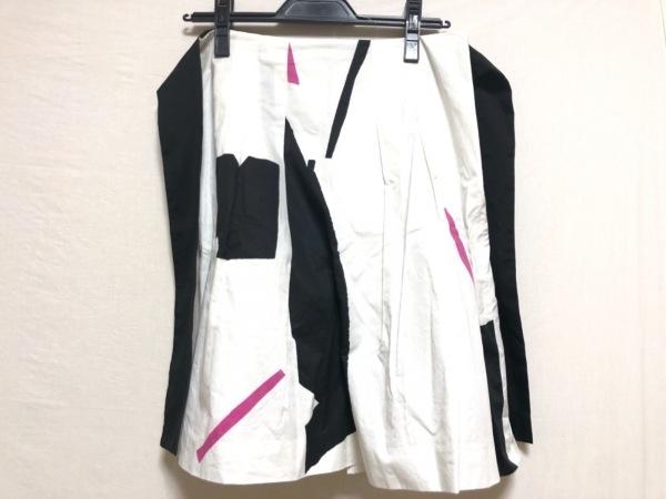 theory(セオリー) スカート レディース 白×黒×ピンク