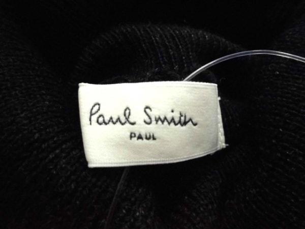 ポールスミス 長袖セーター サイズM レディース美品  黒×白×グレー タートルネック