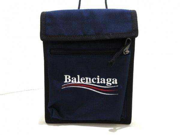 バレンシアガ ショルダーバッグ新品同様  - 532298 ネイビー×黒×マルチ ナイロン