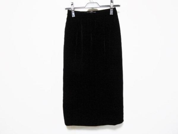 GIVENCHY(ジバンシー) ロングスカート サイズ8 M レディース 黒 ベロア