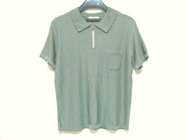 ロイスクレヨン 半袖ポロシャツ サイズM レディース ダークグリーン ニット