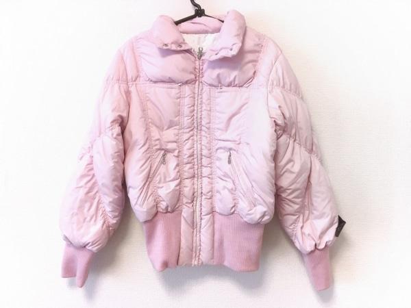 イタリヤ ダウンジャケット サイズ11 M レディース美品  ピンク 冬物