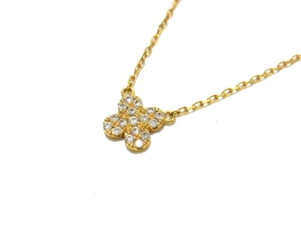 AHKAH(アーカー) ネックレス美品  K18YG×ダイヤモンド ダイヤ0.07カラット