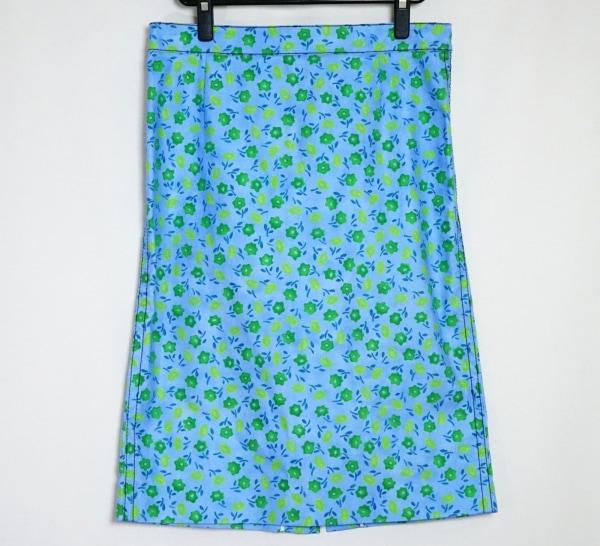 プラダ スカート サイズ44S レディース美品  ライトブルー×ライトグリーン×グリーン