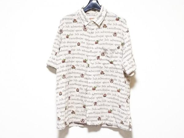 カステルバジャックスポーツ 半袖シャツ サイズ4 XL メンズ くま/ロゴ