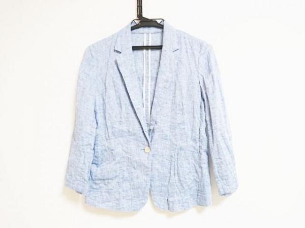ESTNATION(エストネーション) ジャケット サイズ36 S レディース ブルー 麻
