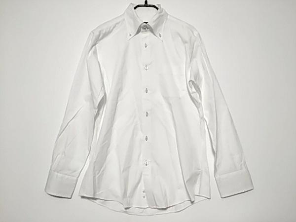 バーバリーブラックレーベル 長袖シャツ サイズ39 メンズ美品  白
