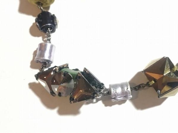 miumiu(ミュウミュウ) ネックレス 金属素材×レザー×ベロア×ラインストーン