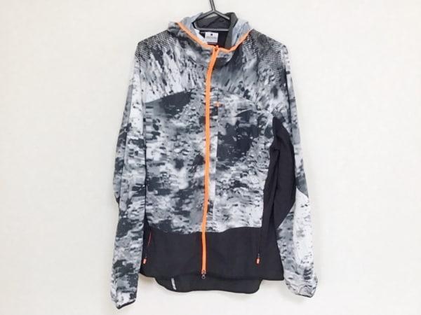 NIKE(ナイキ) ブルゾン サイズL メンズ 黒×グレー×オレンジ 春・秋物/ジップアップ