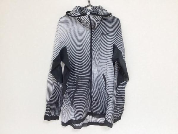 NIKE(ナイキ) ブルゾン サイズL メンズ 黒×ライトグレー 春・秋物/ジップアップ