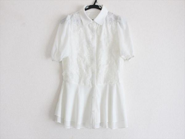 HIAND(ハイアンド) チュニック サイズF レディース美品  白 レース/シースルー