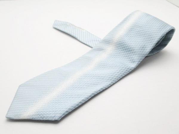 PORSCHE DESIGN(ポルシェデザイン) ネクタイ メンズ美品  ライトブルー×アイボリー
