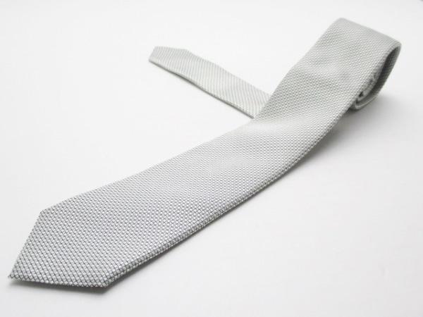 DOLCE&GABBANA(ドルチェアンドガッバーナ) ネクタイ メンズ美品  シルバー×黒