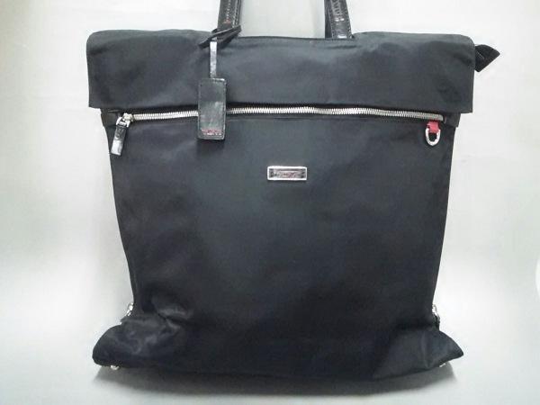 TUMI(トゥミ) ビジネスバッグ美品  - 黒 TUMIナイロン×レザー