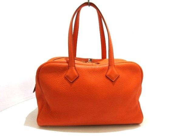 HERMES(エルメス) ショルダーバッグ ヴィクトリア35 オレンジ シルバー金具