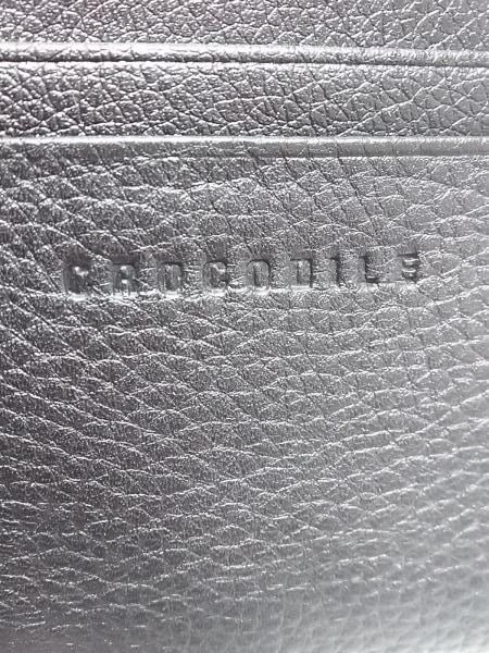 CROCODILE(クロコダイル) 長財布美品  黒 レザー