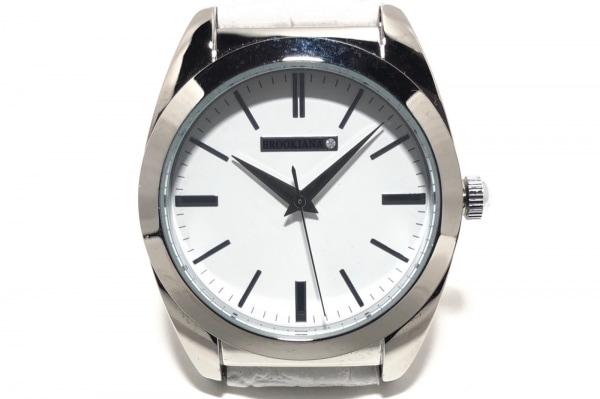 BROOKIANA(ブルッキアーナ) 腕時計 BAV003 レディース 革ベルト 白