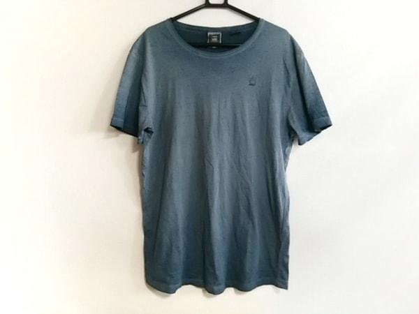 G-STAR RAW(ジースターロゥ) 半袖Tシャツ サイズM メンズ美品  ブルー ダメージ加工