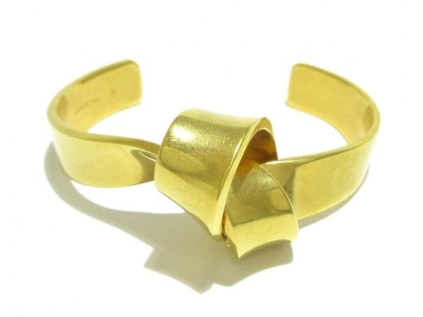 CELINE(セリーヌ) バングル S美品  金属素材 ゴールド リボン