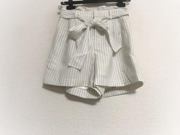 アプワイザーリッシェ ショートパンツ サイズ0 XS レディース 白×黒 ストライプ