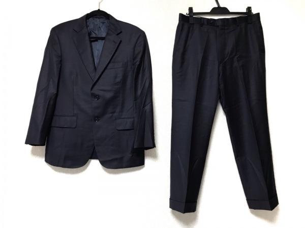 DORMEUIL(ドーメル) シングルスーツ サイズ94AB4 メンズ ダークネイビー ネーム刺繍