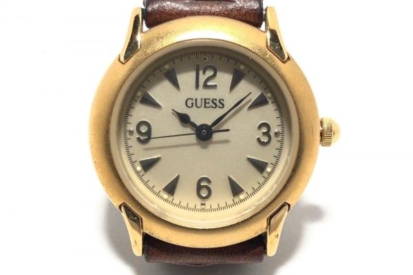GUESS(ゲス) 腕時計 - レディース 編み込み/革ベルト ベージュ