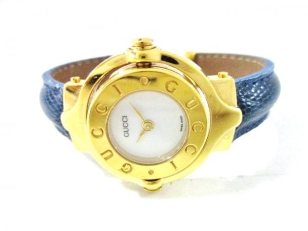 657c36130d4b ... GUCCI(グッチ) 腕時計美品 - レディース バングルウォッチ/回転文字盤 白 ...