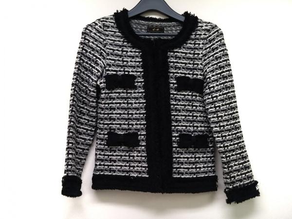 ef-de(エフデ) ジャケット サイズ9 M レディース 黒×グレー×白 ダメージ加工/リボン