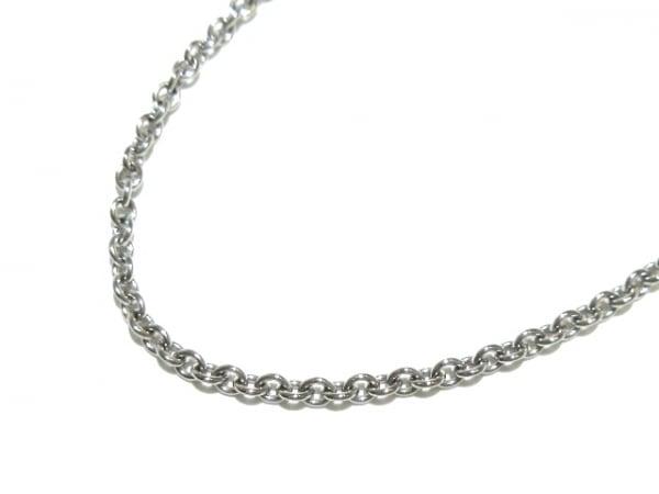 Cartier(カルティエ) ネックレス美品  - K18WG チェーンのみ/ダブルストッパー