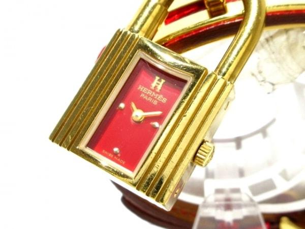 HERMES(エルメス) 腕時計 ケリーウォッチ - レディース 製造刻印:○Z レッド