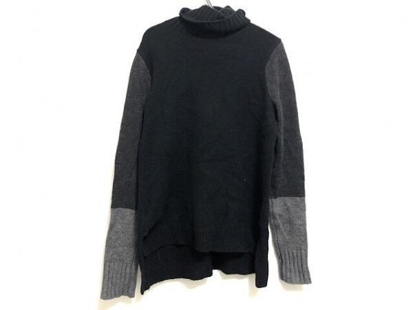 VINCE(ヴィンス) 長袖セーター サイズXS レディース 黒×ダークグレー タートルネック