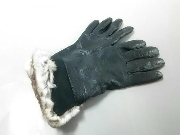Gala Gloves(ガラグローブ) 手袋 レディース美品  黒 レザー×ファー