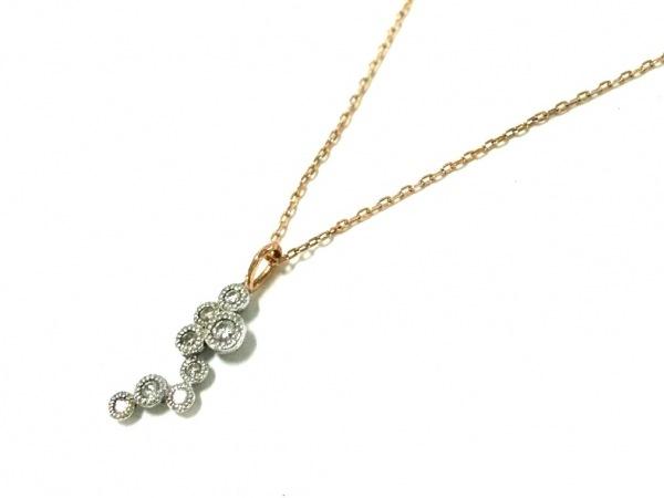 シエナ ネックレス美品  K18YG×K10WG×ダイヤモンド 0K10WG 8Pダイヤ/0.06カラット