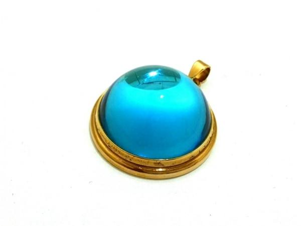 LALIQUE(ラリック) ペンダントトップ美品  ガラス×金属素材 ブルー×ゴールド