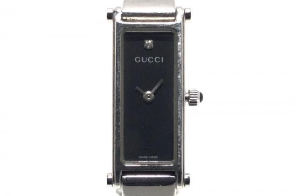 GUCCI(グッチ) 腕時計 1500L レディース 1Pダイヤ 黒