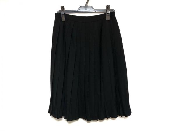 ランバンコレクション スカート サイズ40 M レディース美品  黒 プリーツ