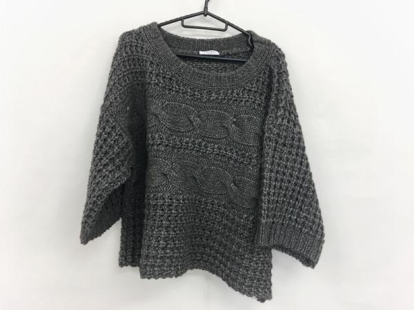 ADORE(アドーア) 七分袖セーター サイズ38 M レディース美品  グレー