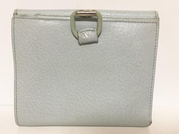 GUCCI(グッチ) Wホック財布 - 0352888 ライトブルー レザー
