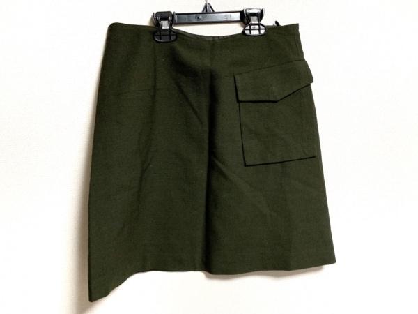 CalvinKlein(カルバンクライン) スカート サイズ2 M レディース新品同様  カーキ
