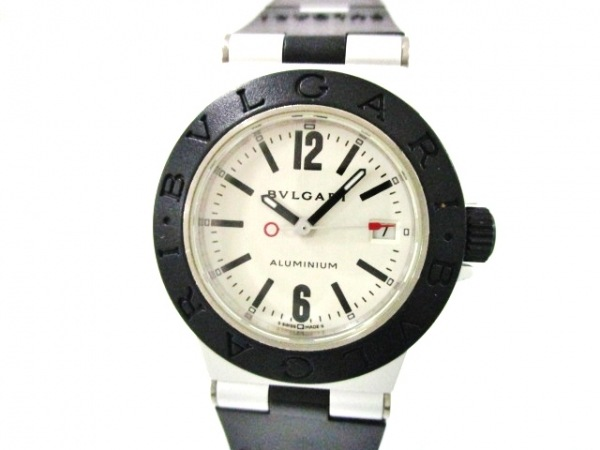 ブルガリ 腕時計美品  アルミニウム AL29T レディース ラバーベルト シルバー
