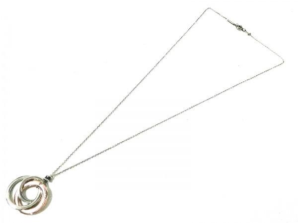 ティファニー ネックレス 1837インターロッキングサークル シルバー×ルベドメタル
