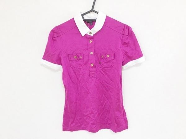 GUCCI(グッチ) 半袖ポロシャツ サイズXS レディース パープル×白