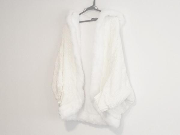 CECILMcBEE(セシルマクビー) コート サイズM レディース美品  アイボリー×白