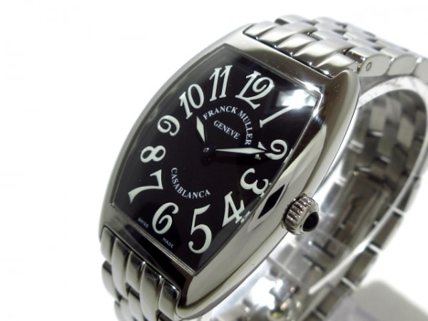 フランクミュラー 腕時計美品  カサブランカ 1752QZC レディース SS 黒