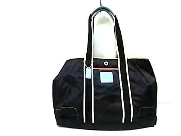 COACH(コーチ) ショルダーバッグ - 1895 黒×ライトブルー×白 ナイロン×レザー
