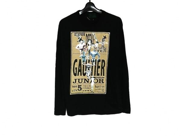 JUNIOR GAULTIER(ゴルチエ) 長袖Tシャツ サイズ40 M メンズ 黒×イエロー×ベージュ