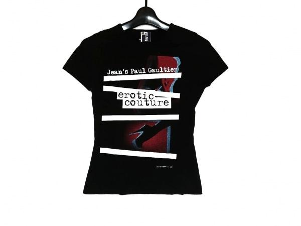 ジーンズポールゴルチエ 半袖Tシャツ サイズ40 M レディース美品  黒×白×マルチ